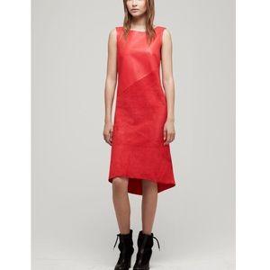 Rag & bone leather red dress